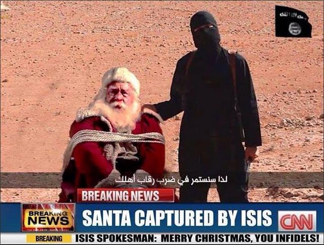 Islamic State's photoshopped image of Santa held hostage