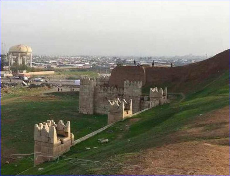 The remains of the walls of Nineveh in north Iraq.