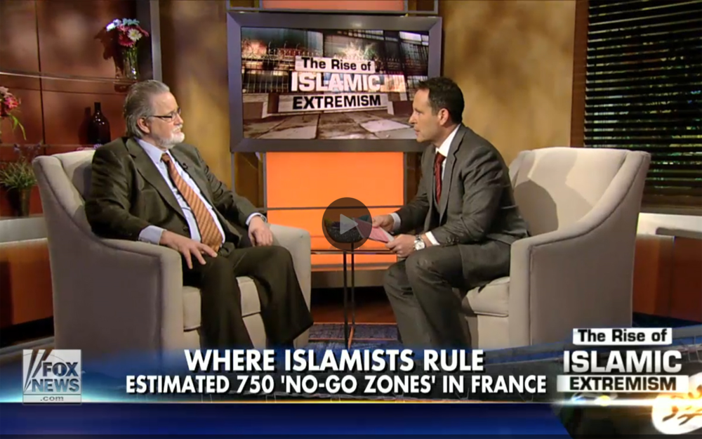 "Martin Mawyer, left, talks to Fox and Friends' Brian Kilmeade this morning about ""no-go zones"" in America."