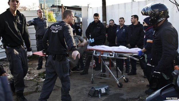 Israeli police took the injured suspect to hospital.