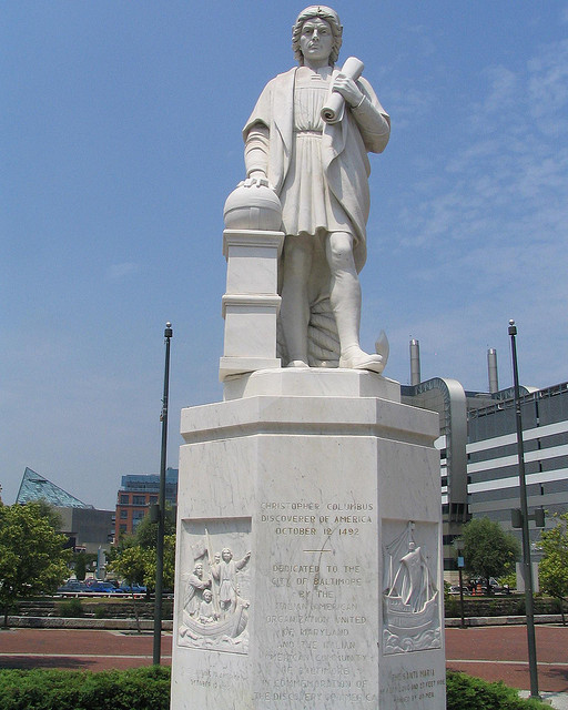 Statue of Christopher Columbus in Baltimore.