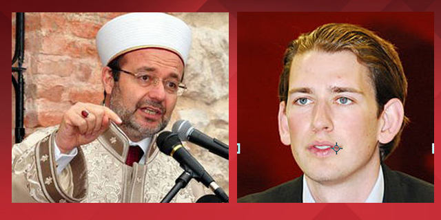 Head of the Turkish government's Religious Affairs Directorate,Mehmet Görmez (left), opposes the new law. Austria's Minister for Integration and Foreign Affairs, Sebastian Kurz, (right), said the rapid rise of Islam in Austria has rendered the old Islam Law obsolete. A new law is needed, he said, to stipulate more clearly the rights and responsibilities of Muslims living in the country.