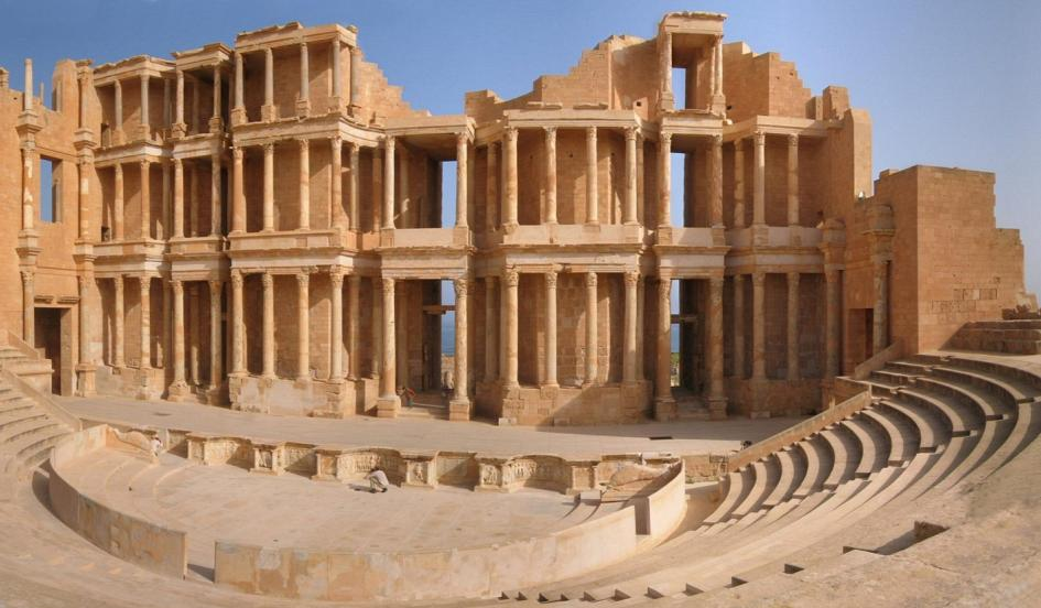 The ancient theatre at Sabratha, one of the sites under threat from ISIS militants. Duimdog