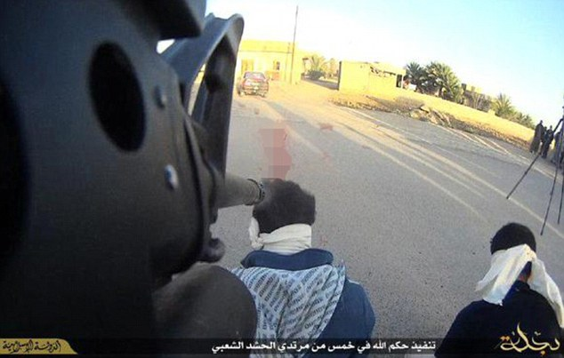 Savages: Depraved militants fighting for the Islamic State in Iraq are attaching high-definition cameras to the barrels of their guns in order to film barbaric executions in gruesome detail.