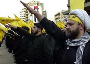 Hezbollah fighters from Iran.