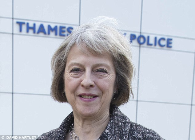 Pledge: UK Home Secretary Theresa May said police will have to record Islamophobic attacks as a separate category.