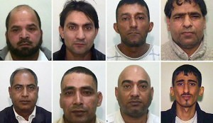 Members of a Muslim rape gang that operated in the UK.