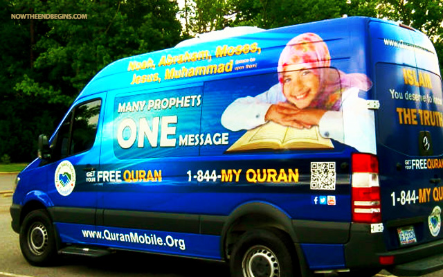 """""""You got everything from book mobiles to bat mobiles so why not a Quran Mobile,"""" Zahir Shaikh, director of the Quran Mobile said."""