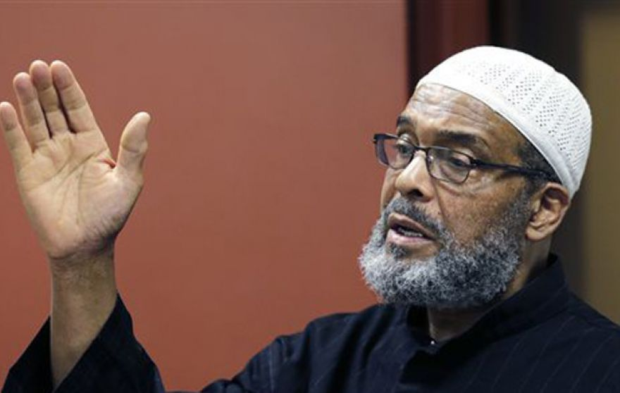 Imam Abdullah Faaruuq says the fiery sermons he delivers at the Mosque for the Praising of Allah in Boston, where Usaama Rahimand his family prayed, are not radical. (AP Photo/Charles Krupa)
