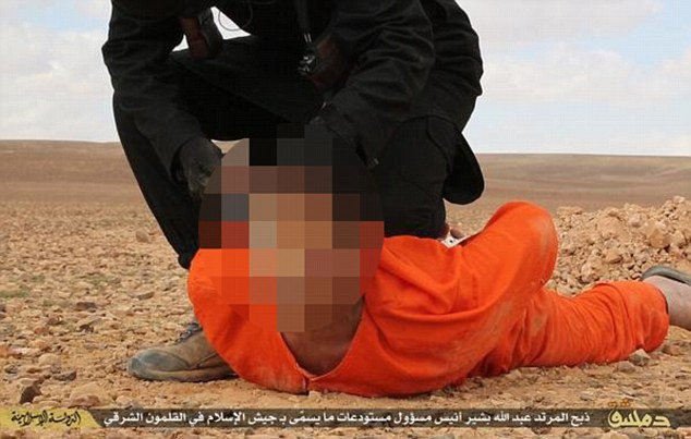 The video's release comes after images which show a prisoner being forced into the ground and decapitated in a sickening echo of the barbaric executions carried out by British militant Jihadi John.