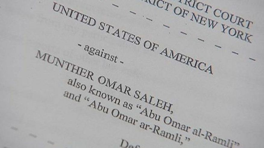 June 16, 2015: This photo shows unsealed court documents detailing an indictment against a 20-year-old New York man charged with conspiring to provide material support and resources to ISIS. (MyFoxNY.com)
