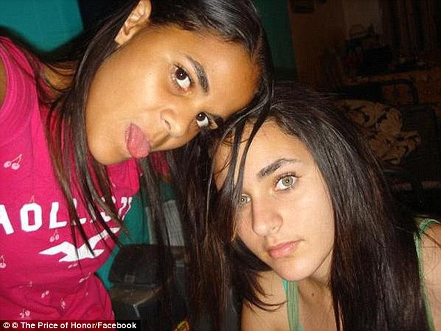 Amina Said, pictured right, and her sister Sarah, left, angered their father when they started dating non-Muslim boys.