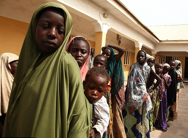 Women and girls rescued by Nigerian soldiers from Boko Haram at Sambisa Forest(AFP/Getty Images)