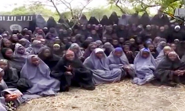 Some of the schoolgirls who were captured by Boko Haram. Photograph: BBC