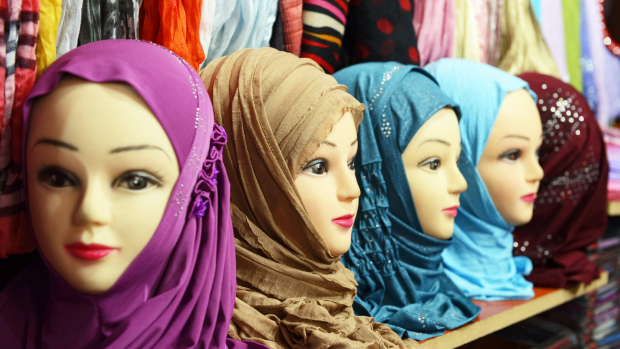 This stock photo of mannequins in hijab demonstrates how the garment is typically worn. (credit: istock)