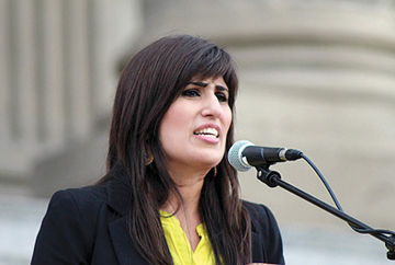 Naghmeh Abedini's husband is being held in Iran.