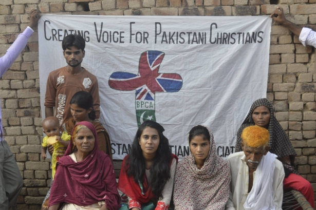 (Photo: British Pakistani Christian Association) Fouzia Sadiq's family