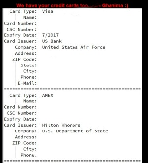 This is aredacted version of Islamic State's proof of credit card details.