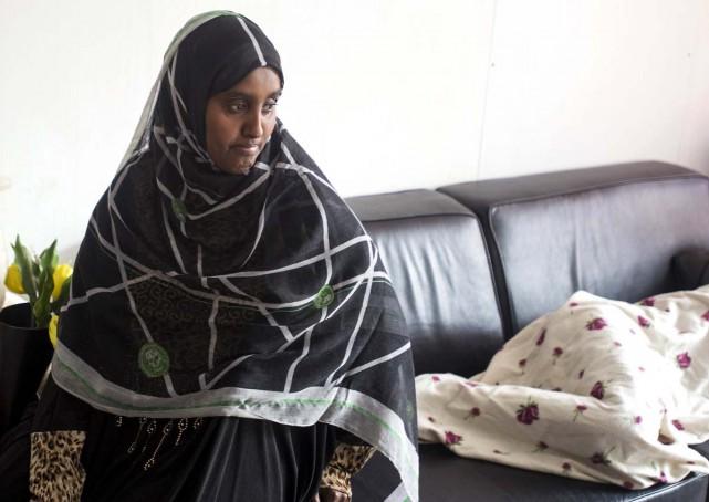 Somali asylum seeker Rahima during an interview in Amsterdam, the Netherlands.
