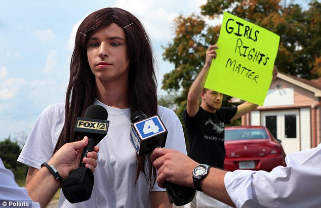 """Lila"" Perry wears a wig and makeup, and now wants to use the girls bathroom."