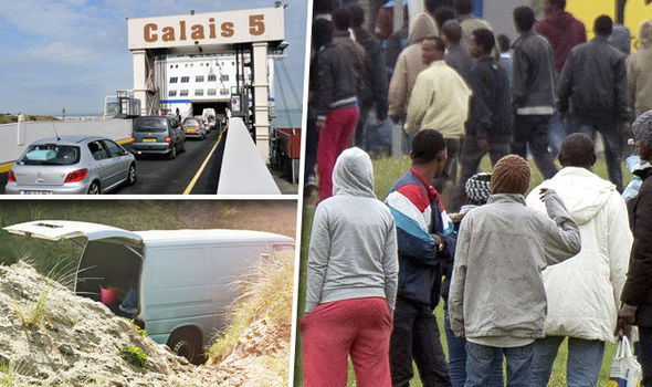 Refugees are coming into Europe at Calais, France, along with other ports.