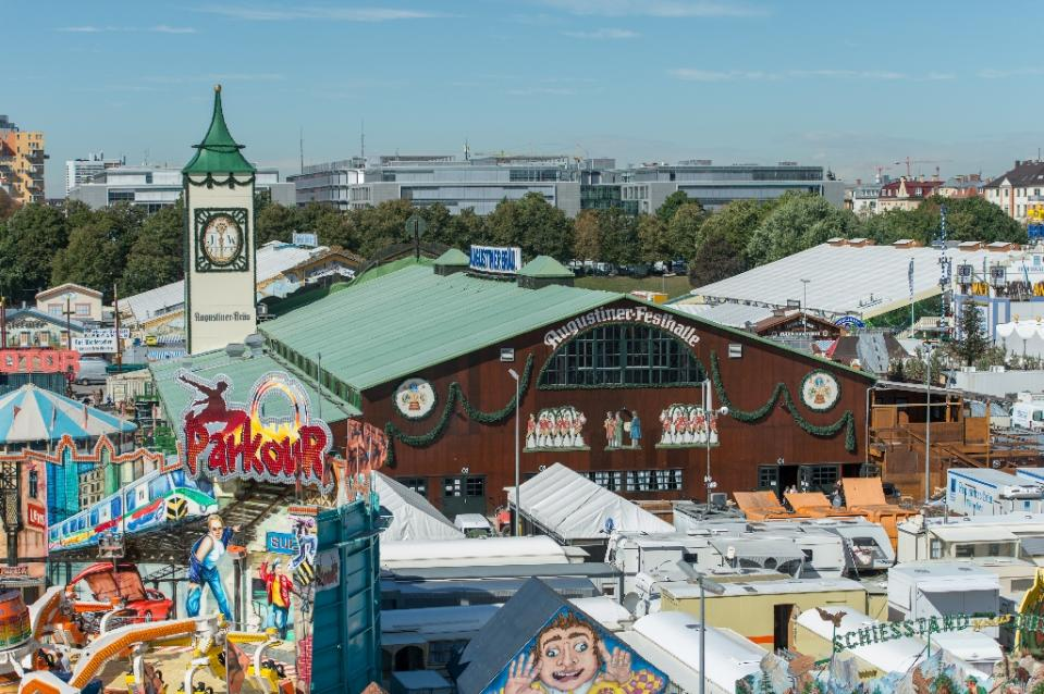 The Oktoberfest grounds ahead of the festival's opening on Saturday.