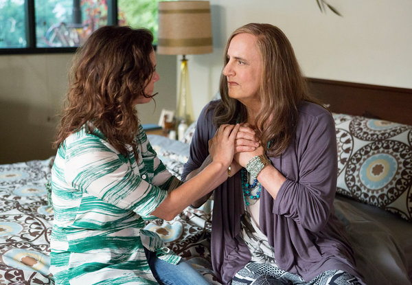 "Stunning: Jeffrey Tambor, right, and Amy Landecker star in the Emmy-award winning ""Transparent"" on Amazon."