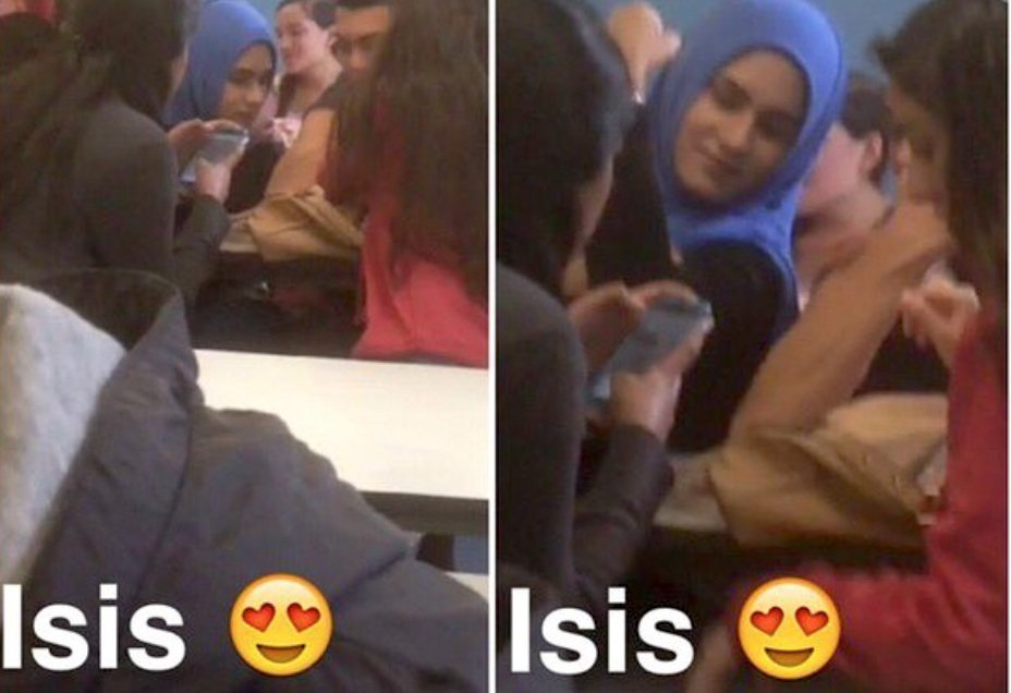 Saira Ali posted this photo to Facebook, saying a bully took it of her at lunch in Colonia High School and posted it to Snapchat last spring.