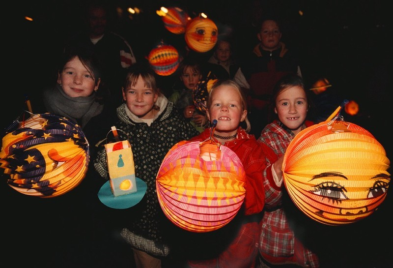 Children celebrate the festival of St. Martin in Europe.