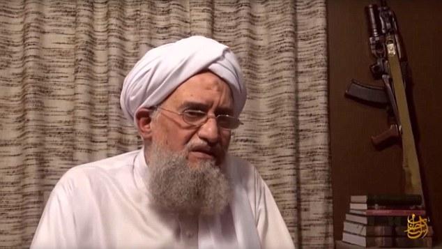 Al-Qaeda leader Ayman al-Zawahiri, with obligatory Soviet-style rifle prop in background.