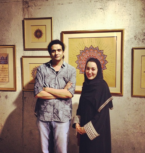 An image from Ashraf Fayadh's Instagram account. His companion is unidentified.