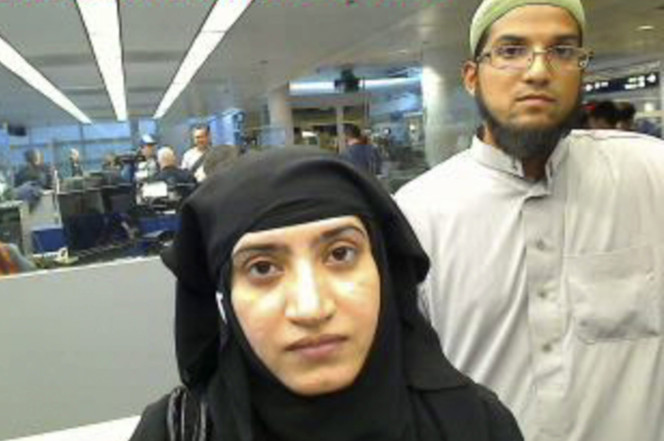 California massacre terrorists Tashfeen Malik (left) and Syed Rizwan Farook