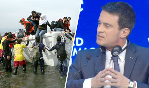 French PM Manuel Valls said Europe couldn't accept every refugee.