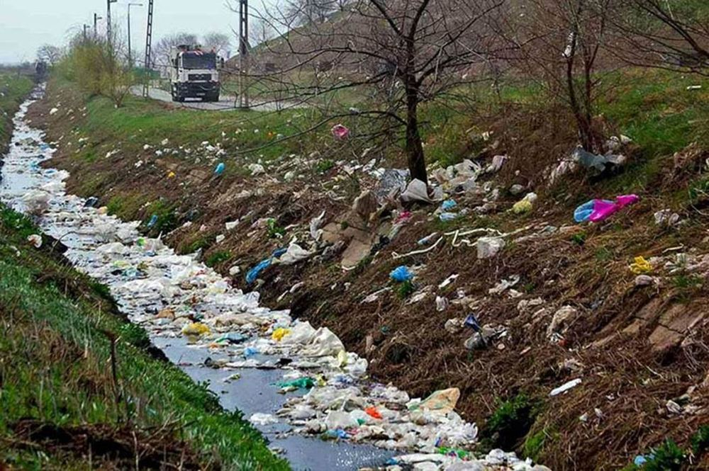 This trail of trash was left by migrants moving through Austria last year.
