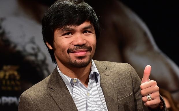 Filipino boxer and politician Manny Pacquiao