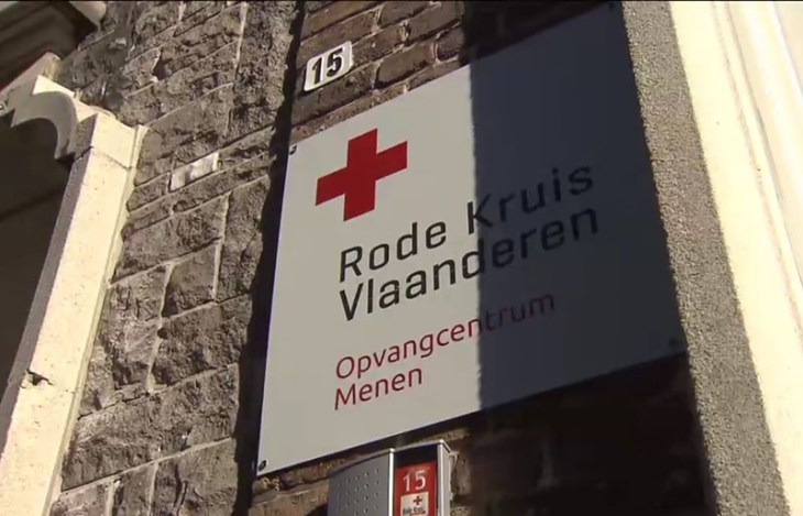 The Red Cross shelter in Menen, West Flanders