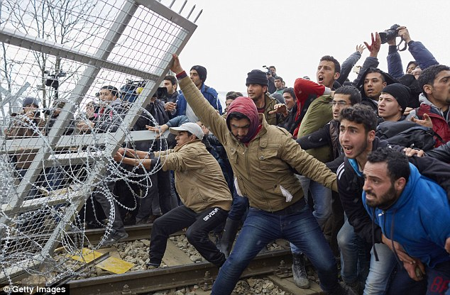 Migrants have previously tried to break through the existing fence on the Greek-Macedonia border.