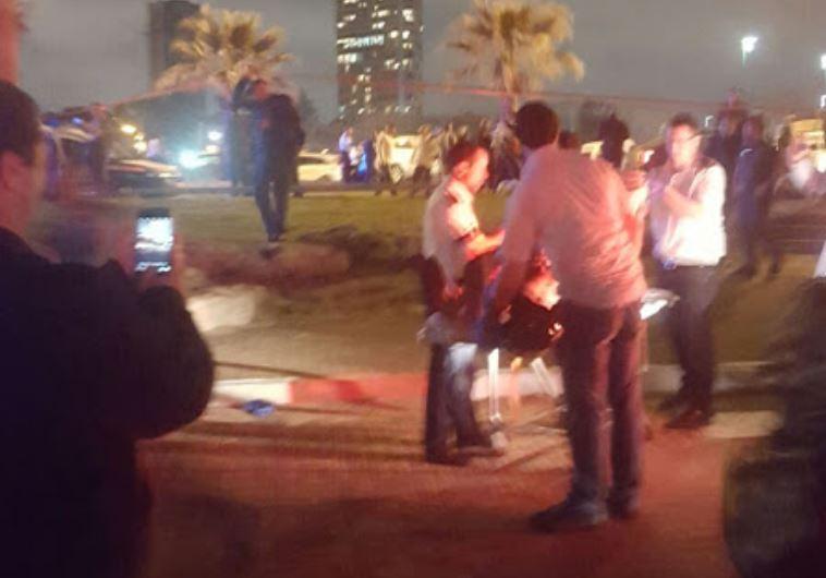 The stabbing scene in Yafo