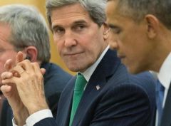 Secretary of State John Kerry and President Obama