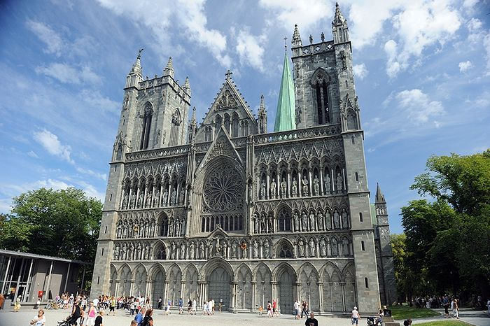 Nidaros Cathedral of the Church of Norway in Trondheim, Norway