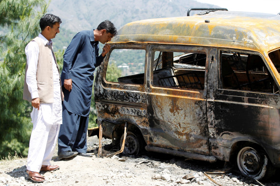 Ambreen Riasat was burned in this van after reportedly being strangled.