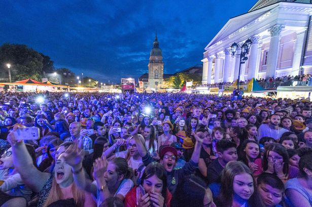A file photo of the Schlossgrabenfest music festival in Darmstadt