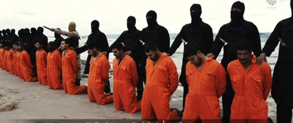 Islamic State released this video early last year purporting to show the beheading of 21 Egyptian Christians kidnapped in Libya.