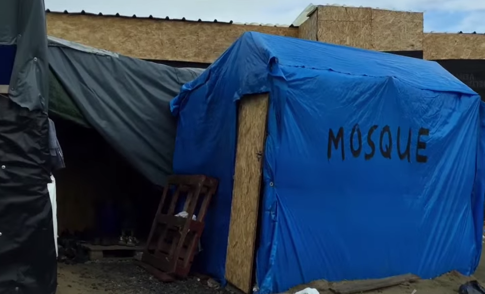 "A ""mosque"" in France's Calais Jungle"