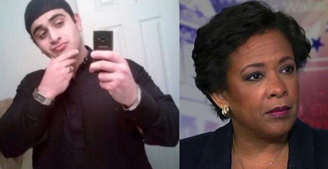 Omar Mateen and Attorney General Loretta Lynch