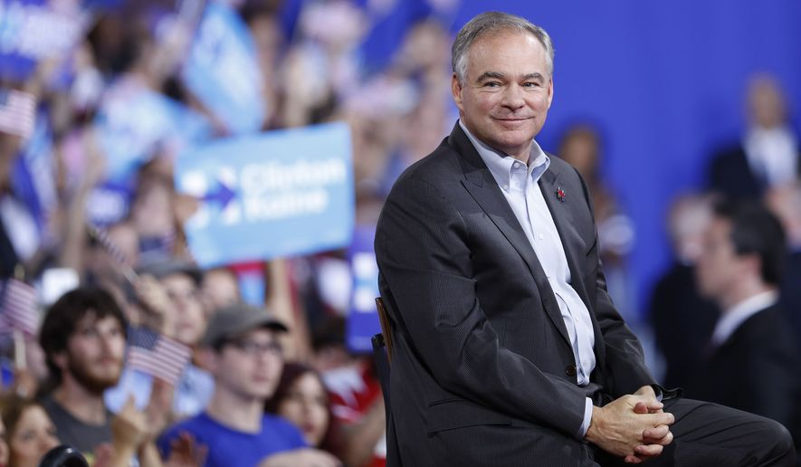 Tim Kaine at the Democratic Convention in Philadelphia