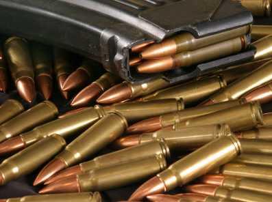 Stock photo of AK-47 ammunition