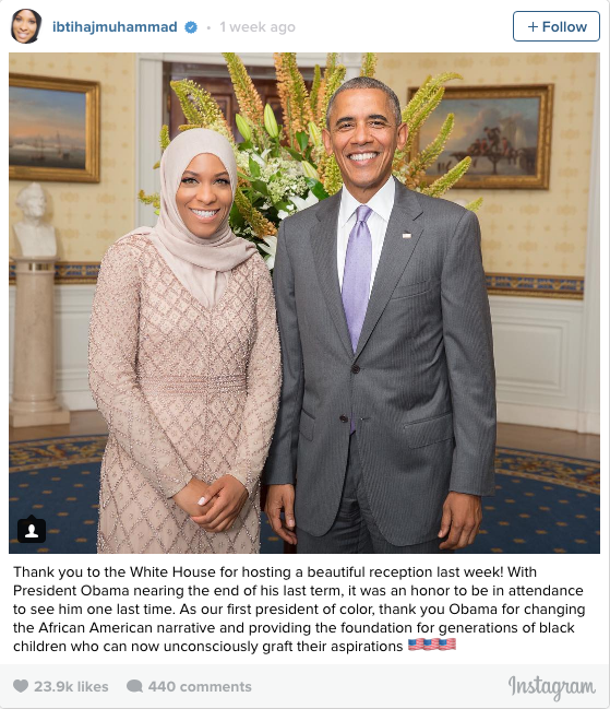 Ibtihaj Muhammad enjoyed the safety of the White House recently.