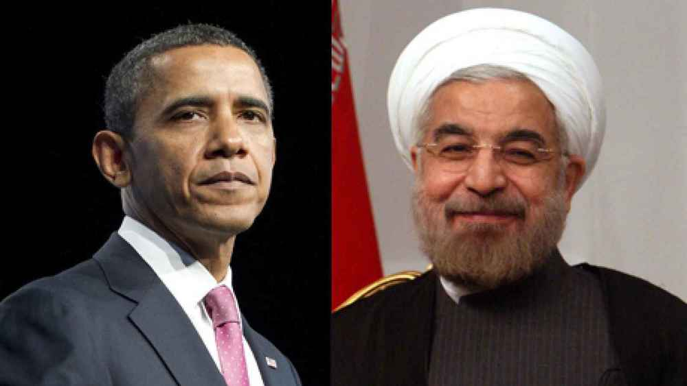 Presidents Barack Obama and Hassan Rouhani