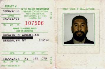 Abdallah has a permit to own rifles and shotguns.  He once operated a security firm in Brooklyn, NY known as 786 Security. It was shut down after a raid by the DEA, ATF and IRS.